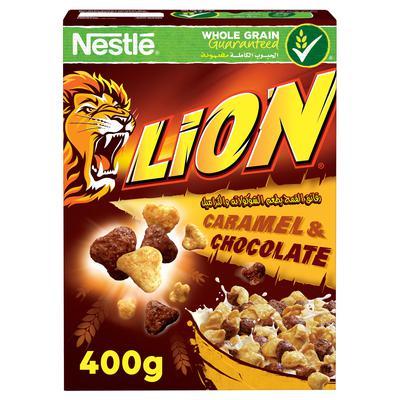 Nana نعناع Lion Corn Flakes Caramel And Chocolate 400 G