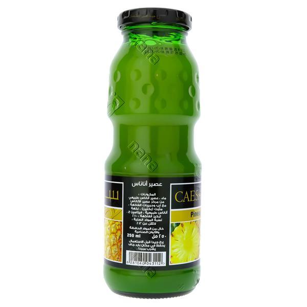 Nana نعناع كرتون عصير سيزر اناناس بدون اضافة سكر 250 مل 24