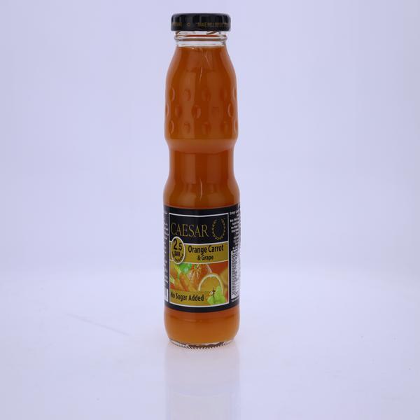 عصير سيزر برتقال وجزر وعنب
